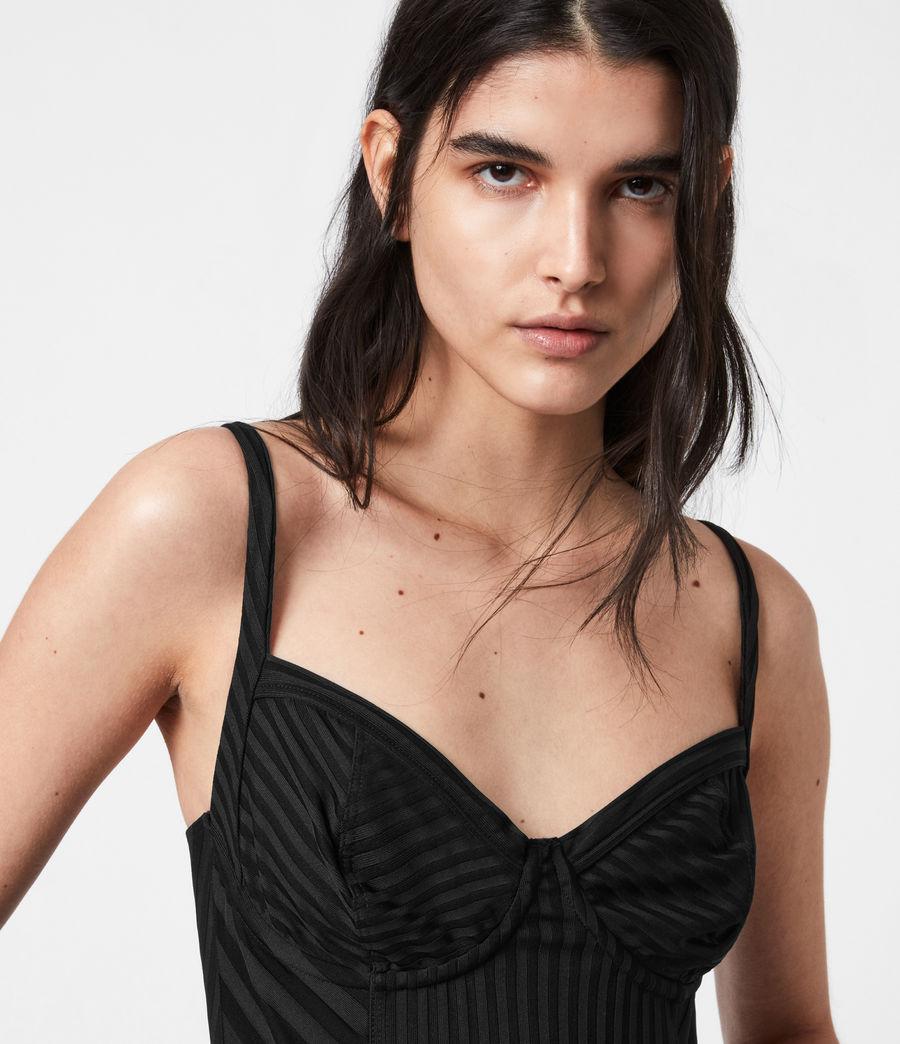 Womens Yuni Rib Bodysuit (black) - Image 4