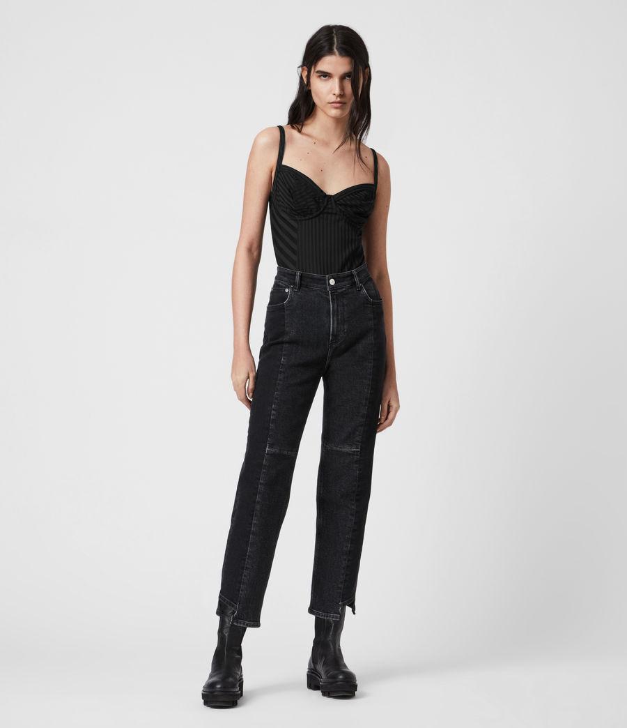Womens Yuni Rib Bodysuit (black) - Image 6
