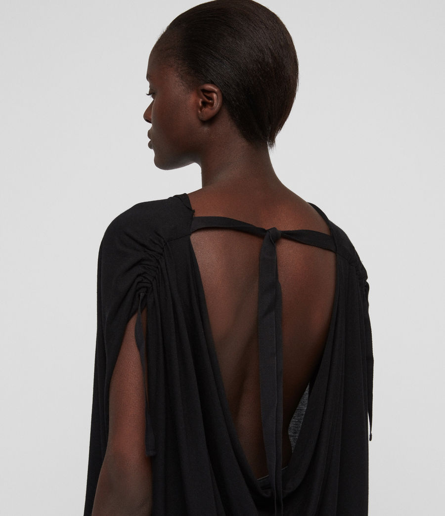 Womens Lisen T-Shirt (black) - Image 2