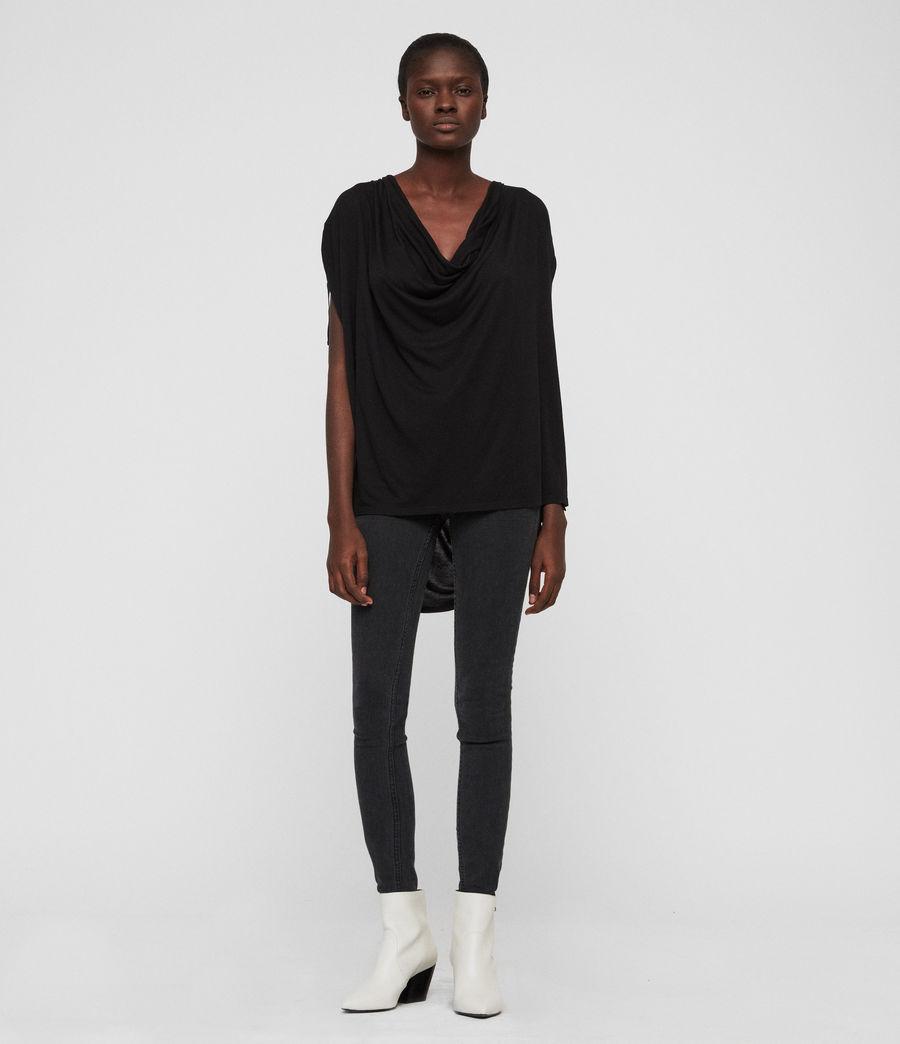Womens Lisen T-Shirt (black) - Image 3