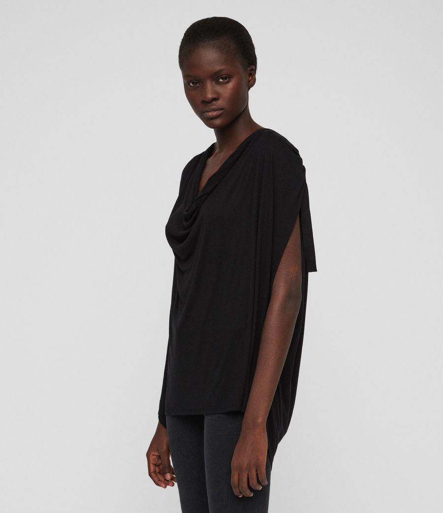 Womens Lisen T-Shirt (black) - Image 4