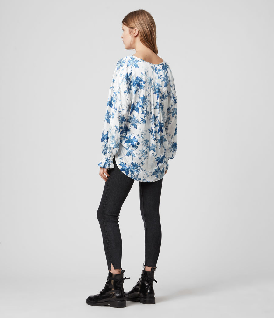 Women's Penny Silk Blend Evolution Top (cornflower_blue) - Image 5