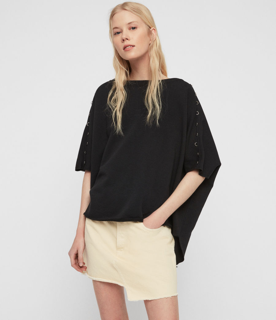 Womens Daner Sweatshirt (black) - Image 1