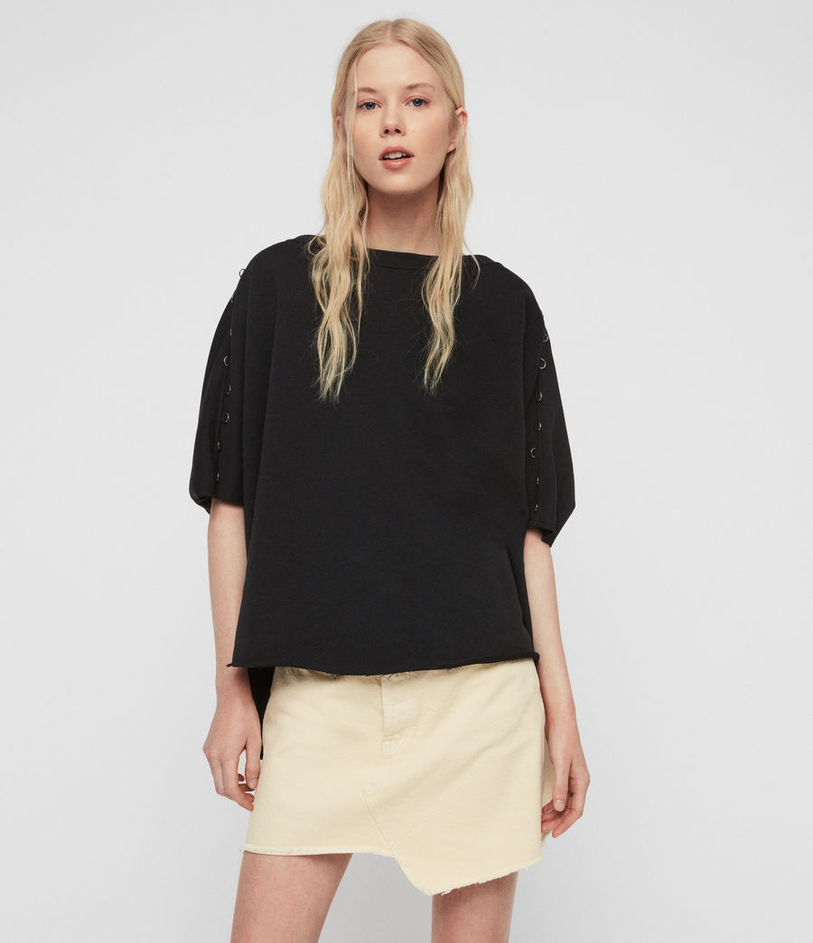 Womens Daner Sweatshirt (black) - Image 2