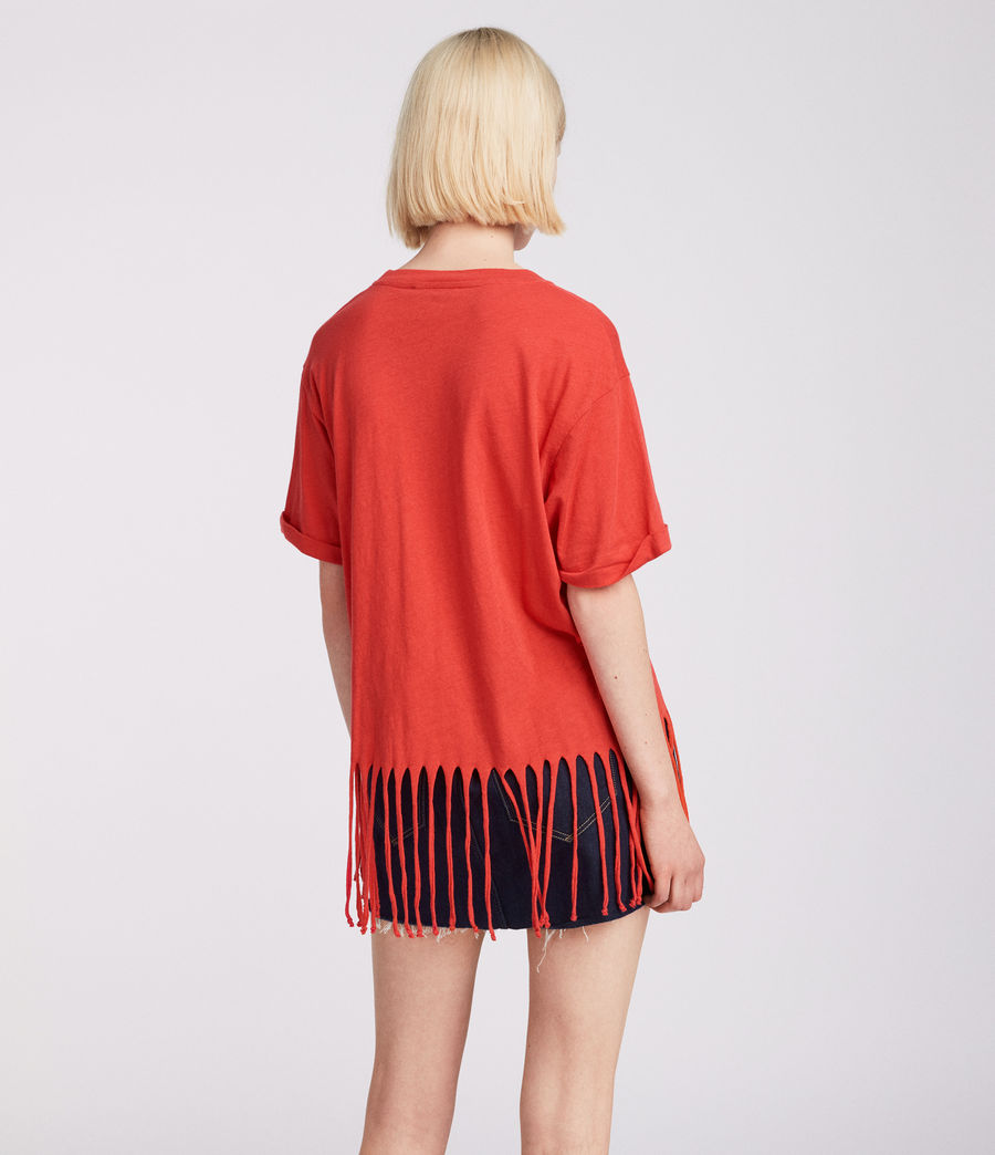 Womens Tami T-Shirt (poppy_red) - Image 3