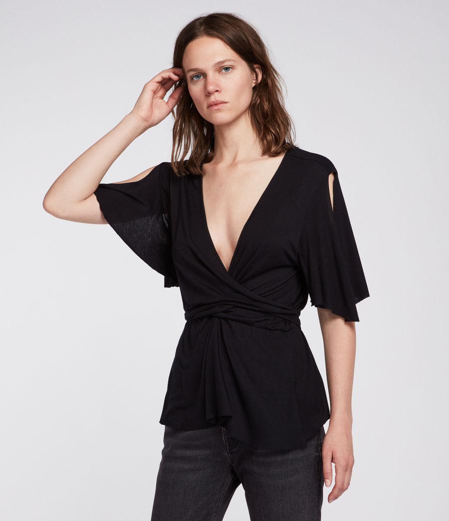 Womens Amira Top (black) - Image 2