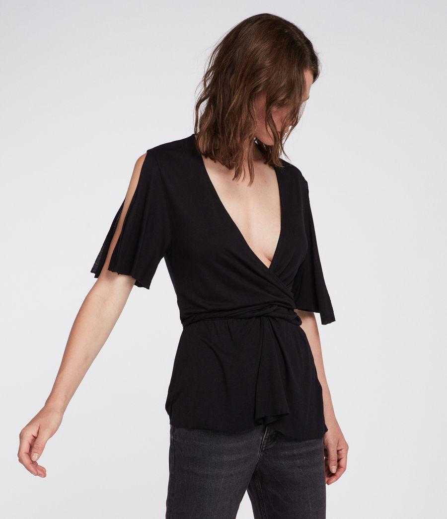 Womens Amira Top (black) - Image 3