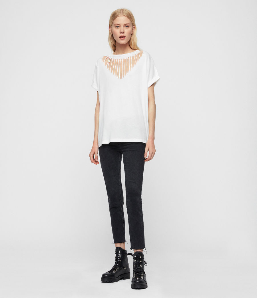 Women's Imogen Boy Slash T-Shirt (chalk_white) - Image 1