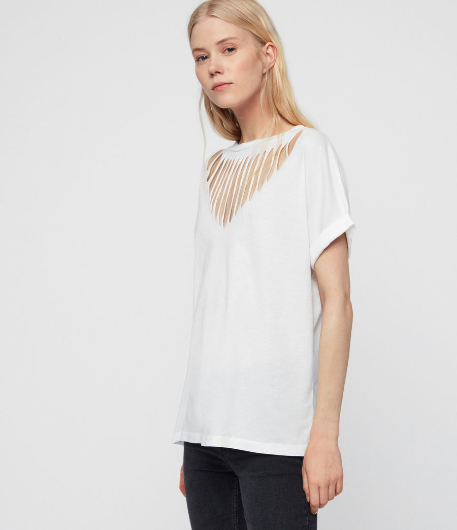 Women's Imogen Boy Slash T-Shirt (chalk_white) - Image 3