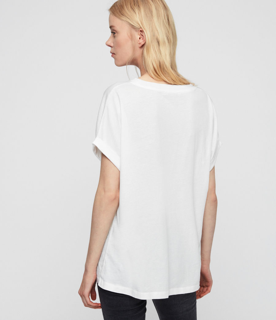 Women's Imogen Boy Slash T-Shirt (chalk_white) - Image 4