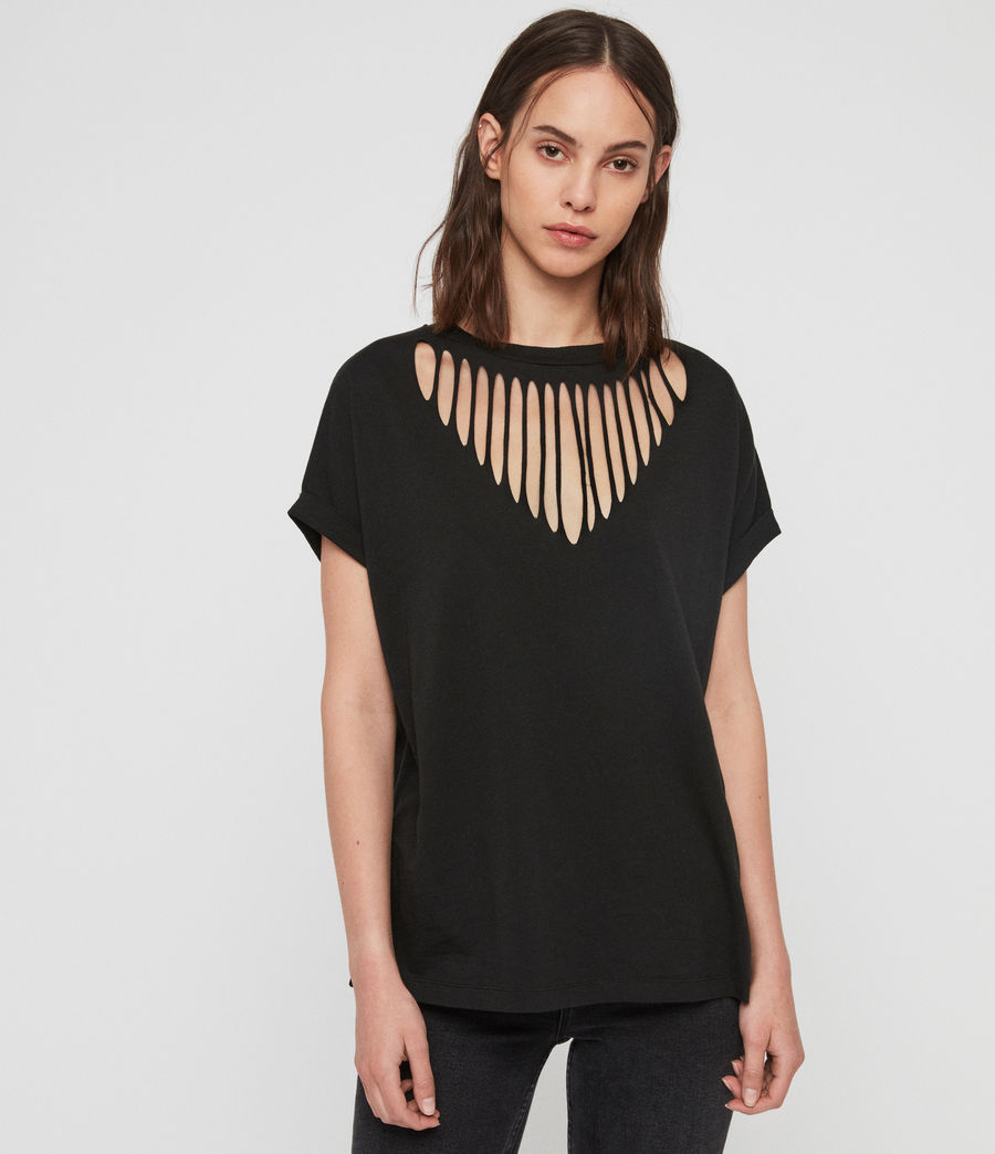 Femmes T-Shirt Imogen Slash (black) - Image 3