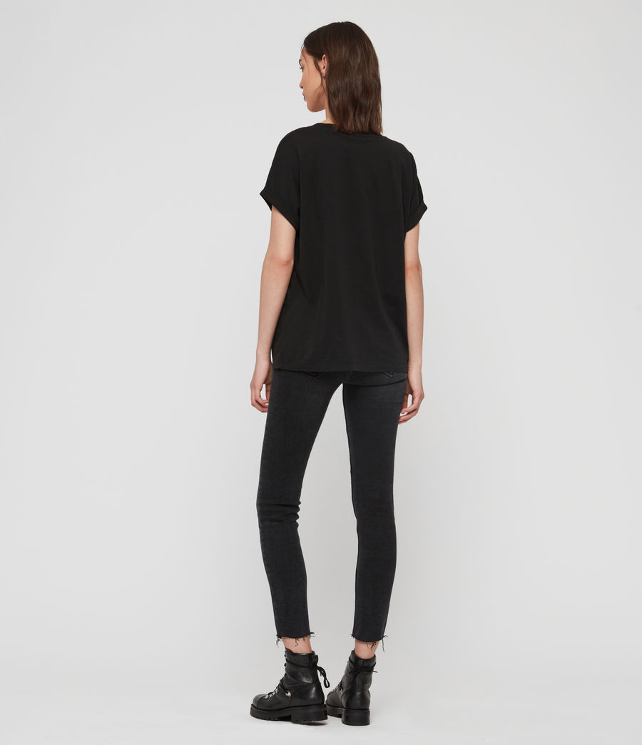 Femmes T-Shirt Imogen Slash (black) - Image 5