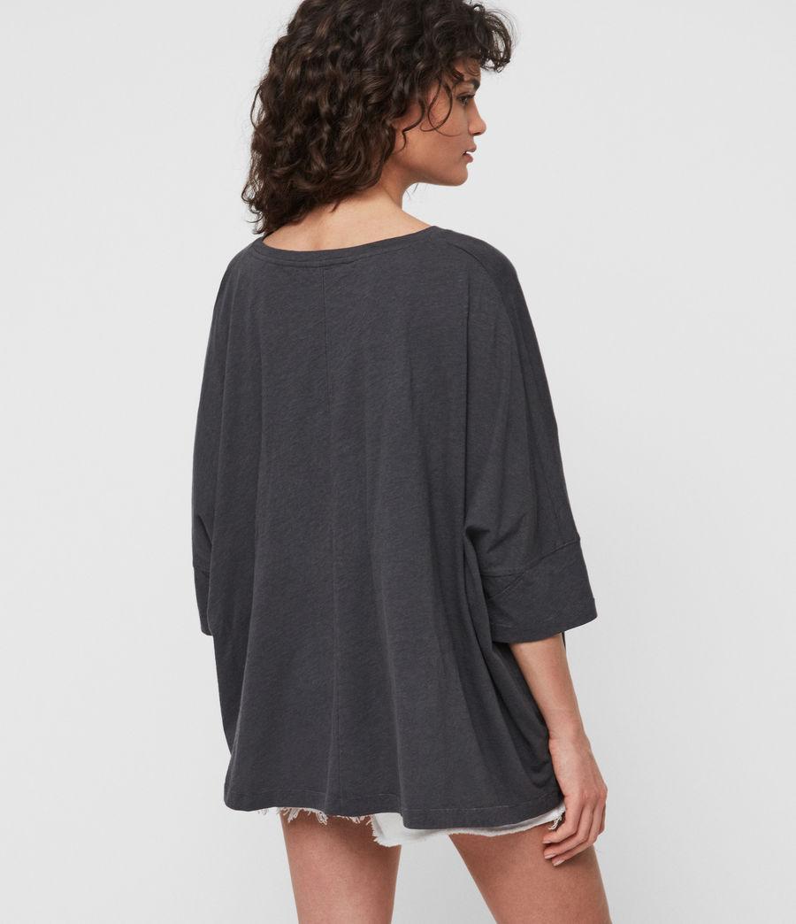 Womens Plira Slash T-Shirt (washed_black) - Image 4
