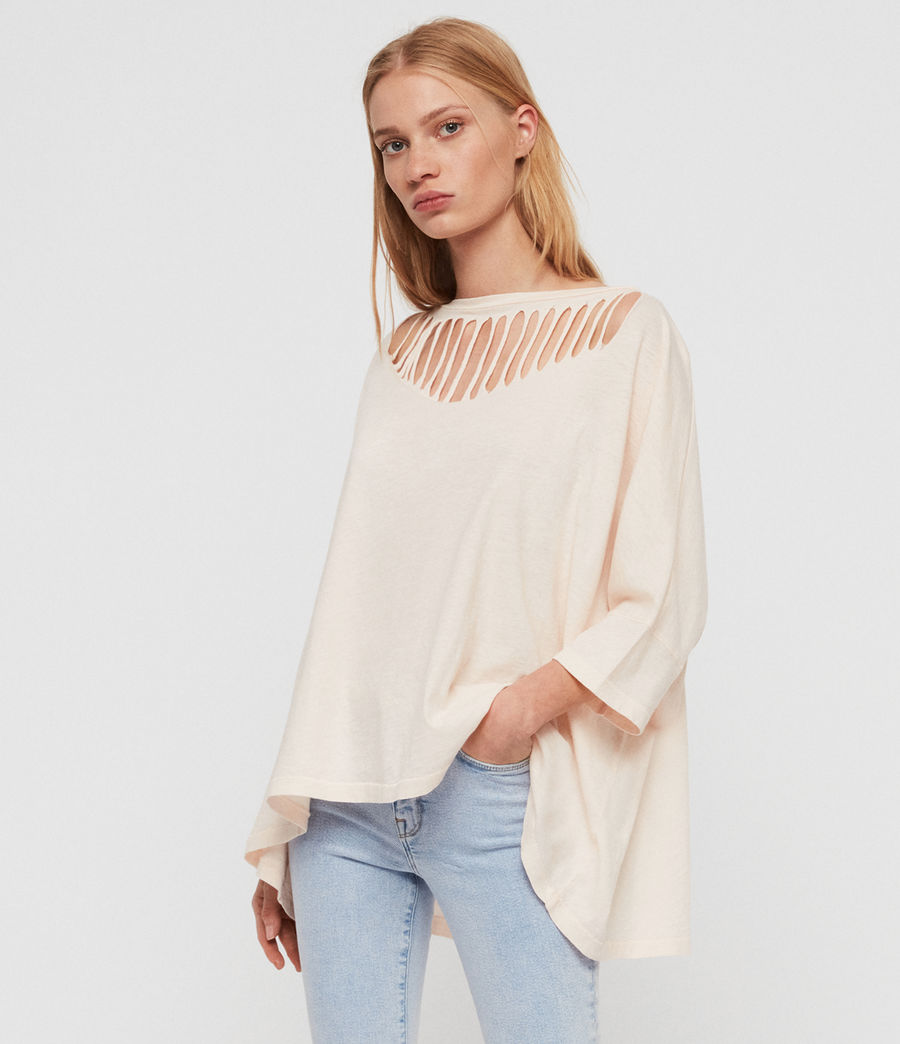 Femmes T-Shirt Plira Slash (pale_pink) - Image 1