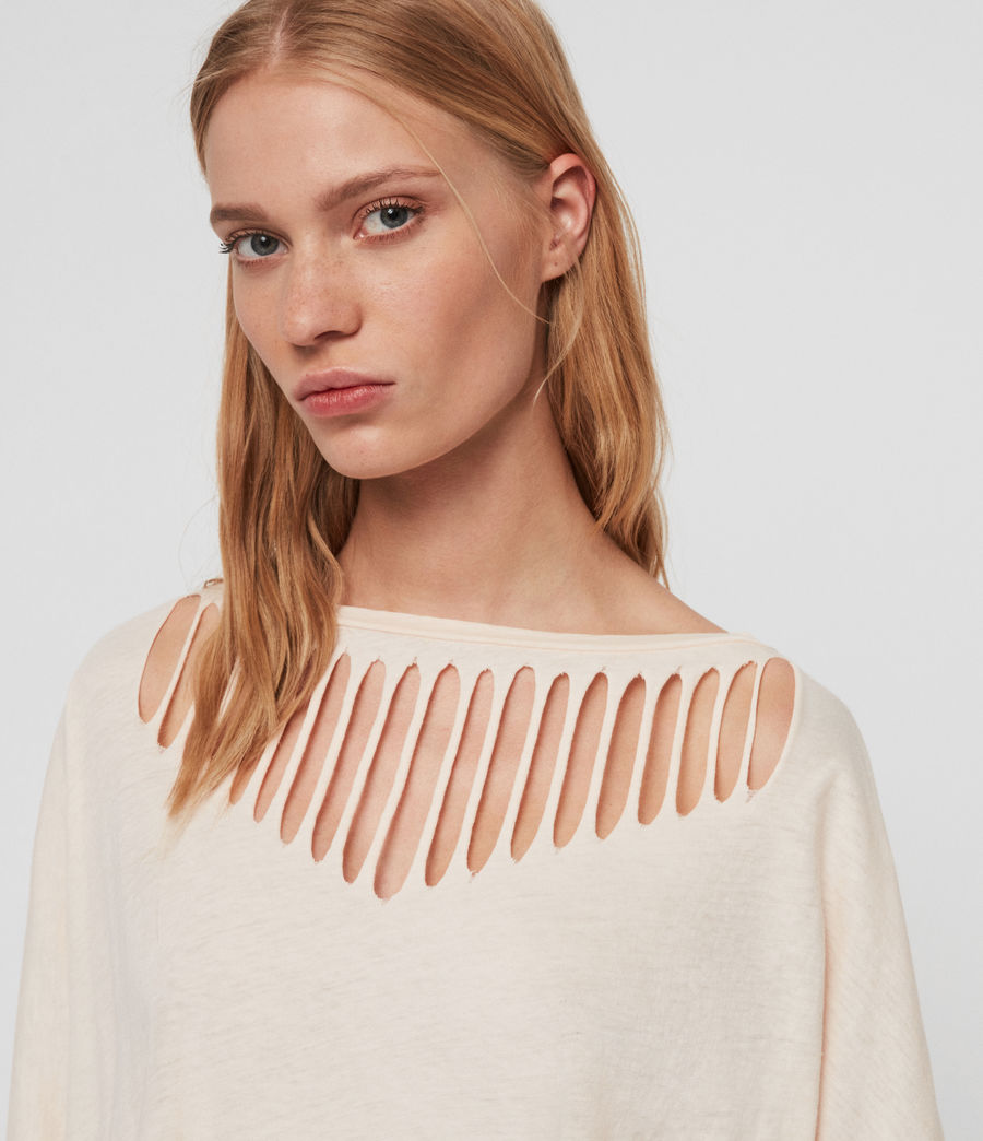 Femmes T-Shirt Plira Slash (pale_pink) - Image 3