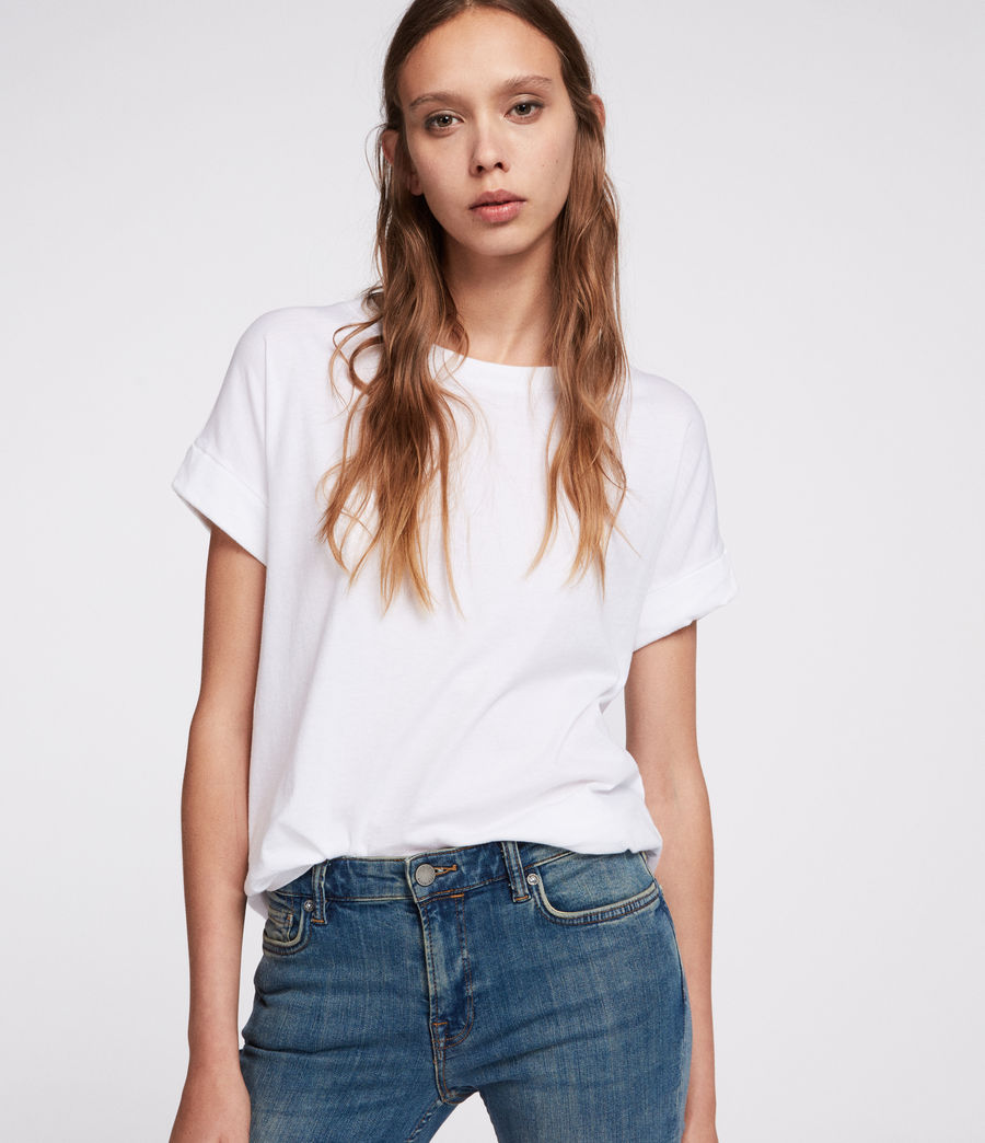 Womens Imogen Boy T-Shirt (chalk_white) - Image 1