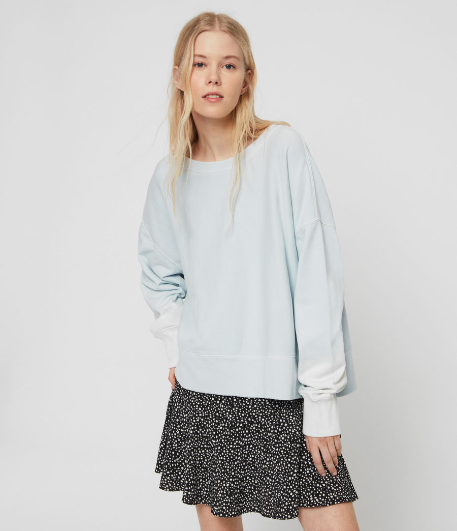 Womens Piro Sweatshirt (bleach_indigo_blue) - Image 1