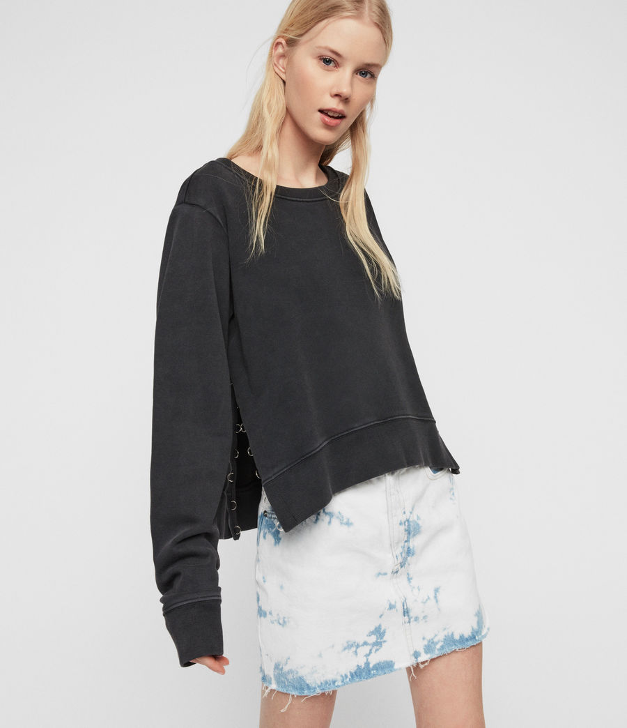 Damen Daner Sweatshirt (acid_washed_black) - Image 1