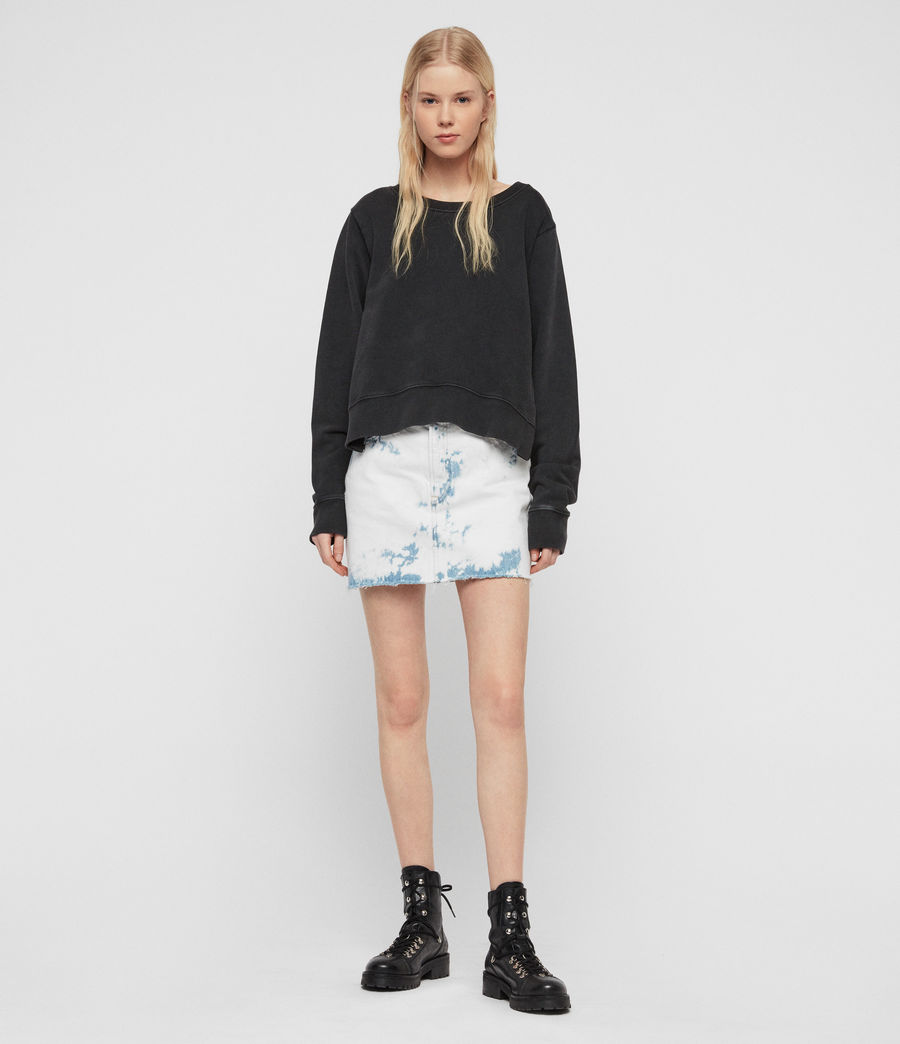 Damen Daner Sweatshirt (acid_washed_black) - Image 2