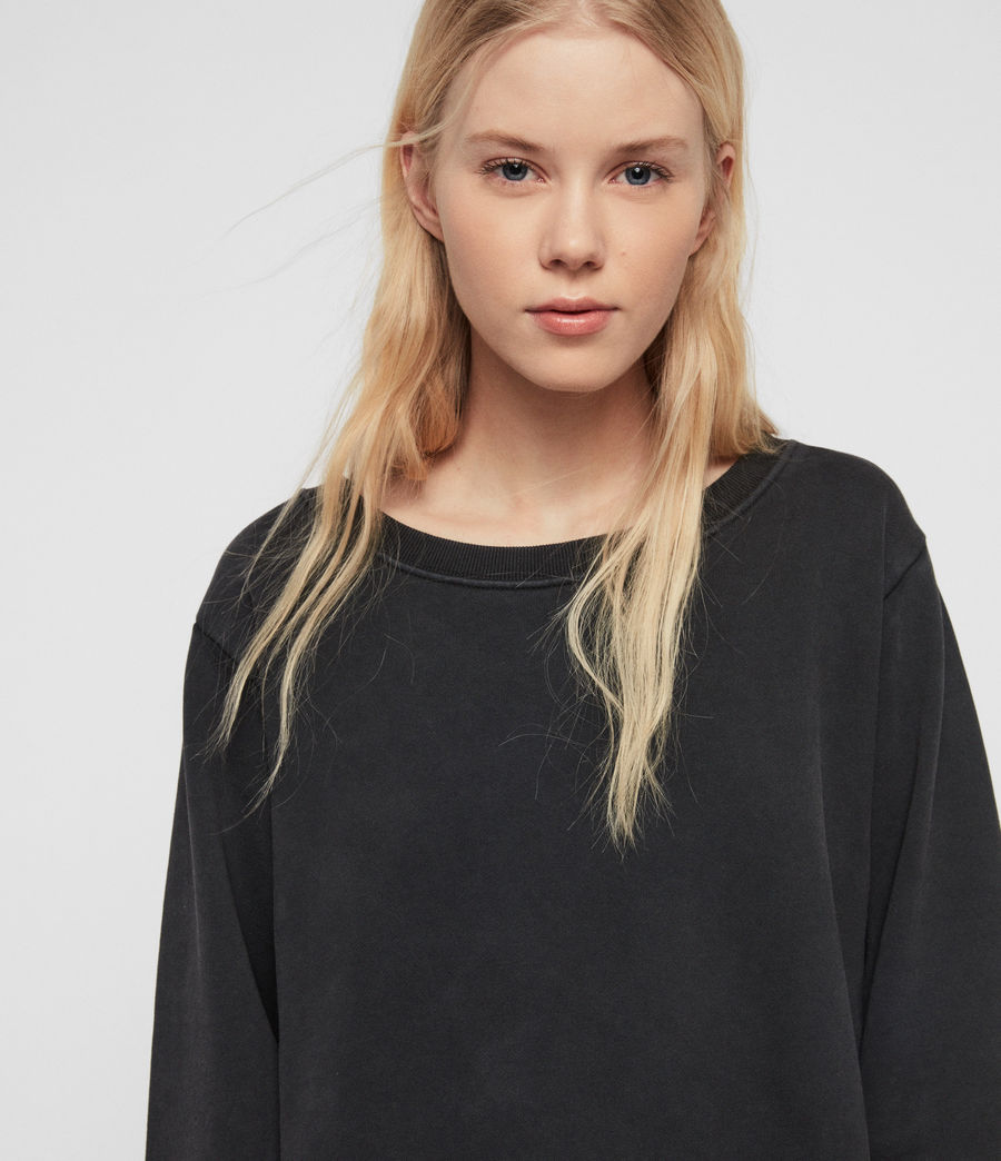 Damen Daner Sweatshirt (acid_washed_black) - Image 3