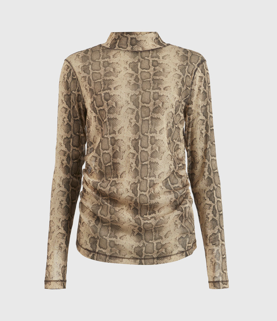 Womens Francesco Snake Top (gold) - Image 2