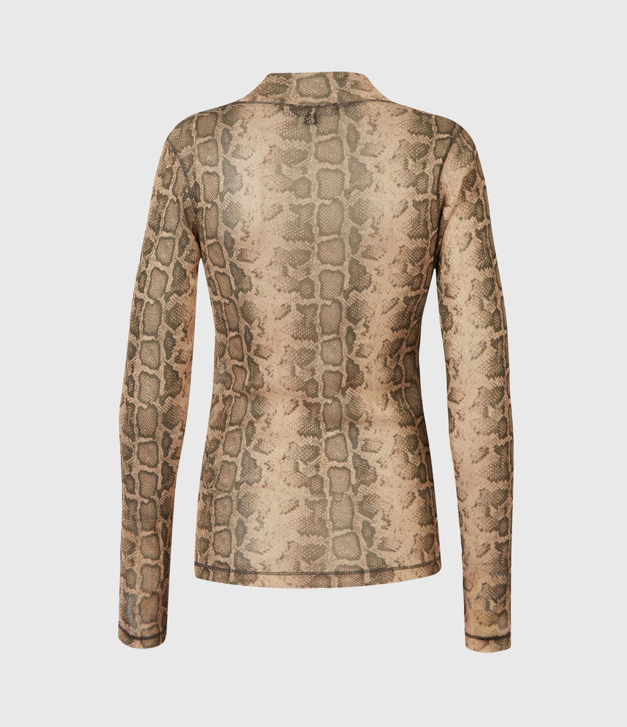 Womens Francesco Snake Top (gold) - Image 3