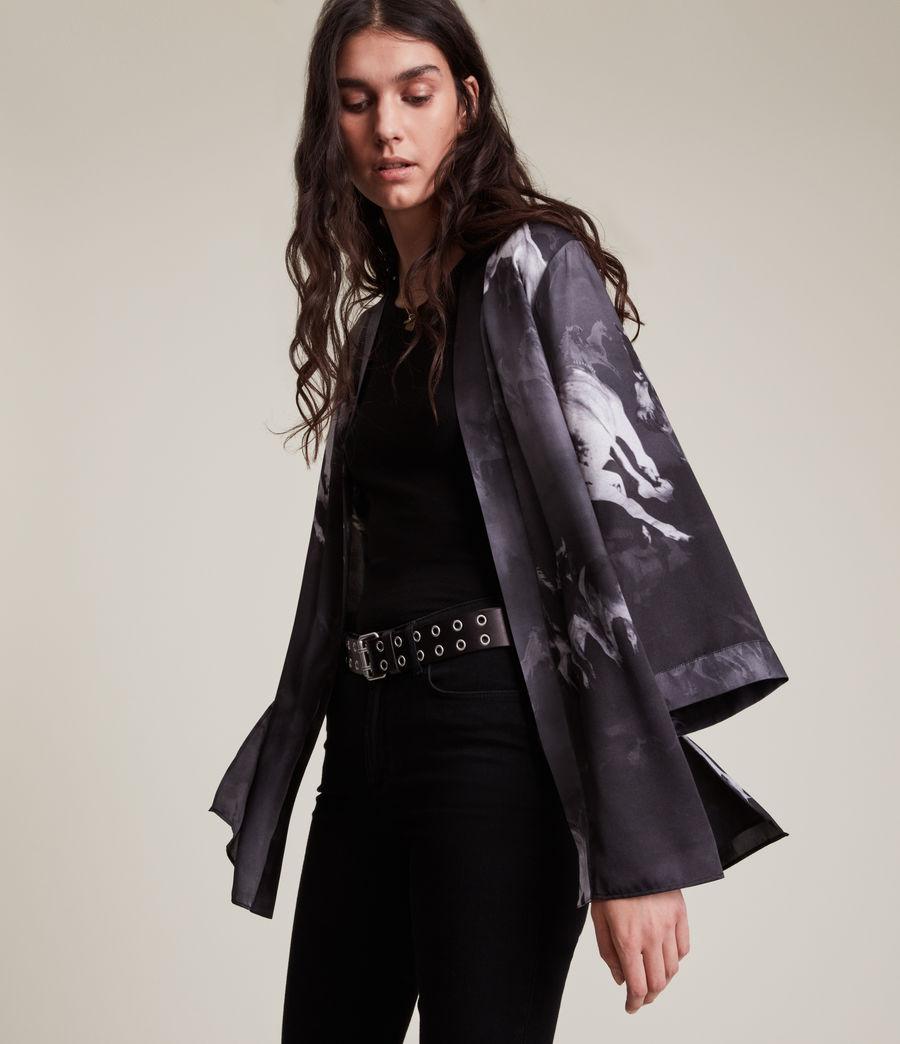 Womens Carina Epoto Silk Blend Kimono (black) - Image 1