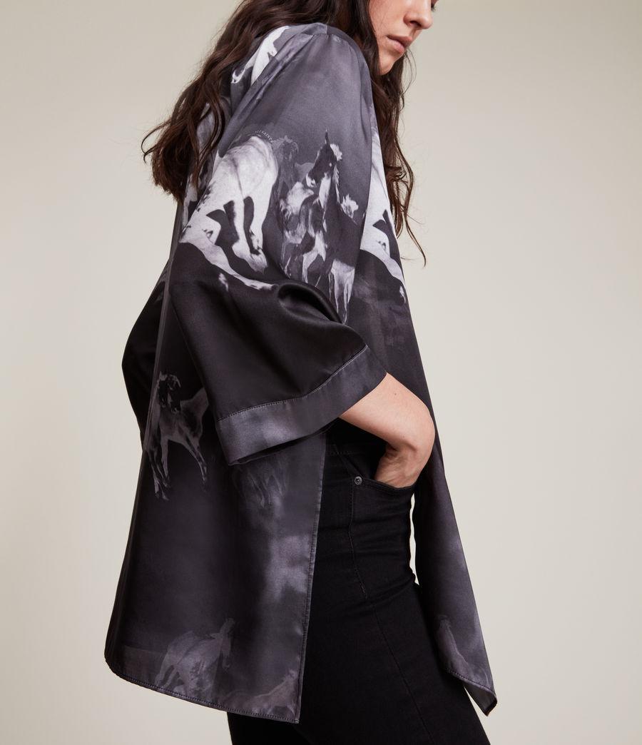 Womens Carina Epoto Silk Blend Kimono (black) - Image 2