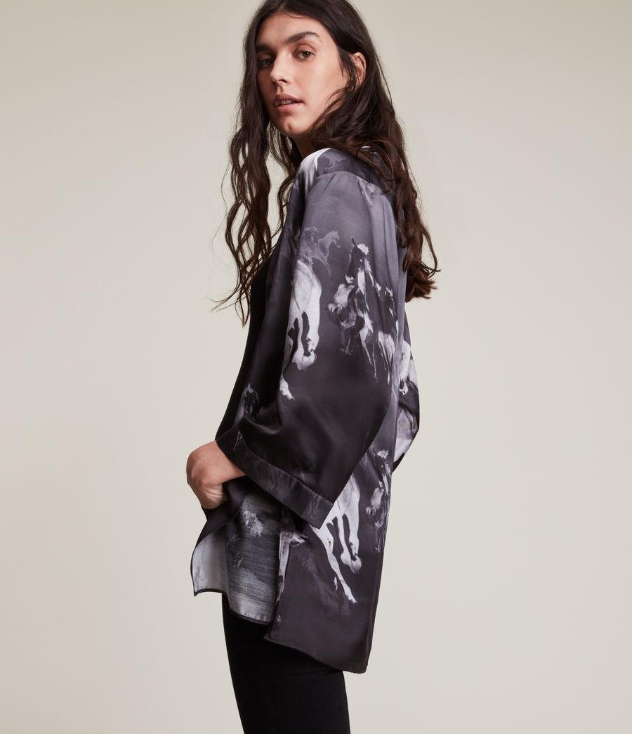 Womens Carina Epoto Silk Blend Kimono (black) - Image 5