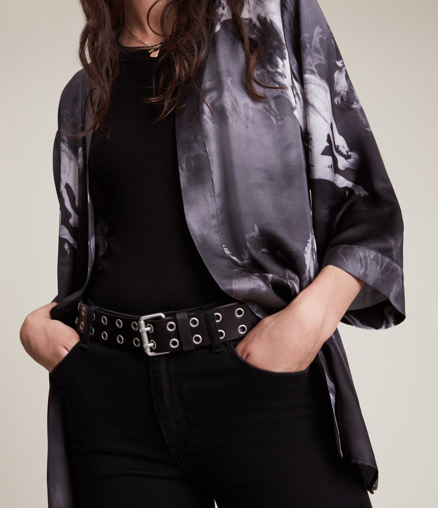 Womens Carina Epoto Silk Blend Kimono (black) - Image 6