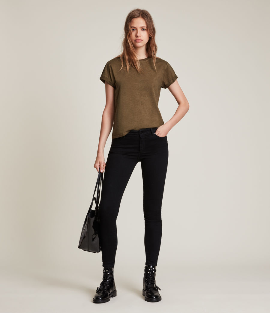 Women's Anna T-Shirt (khaki_green) - Image 2