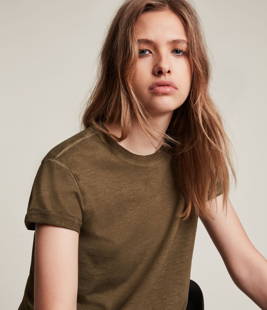 Women's Anna T-Shirt (khaki_green) - Image 3