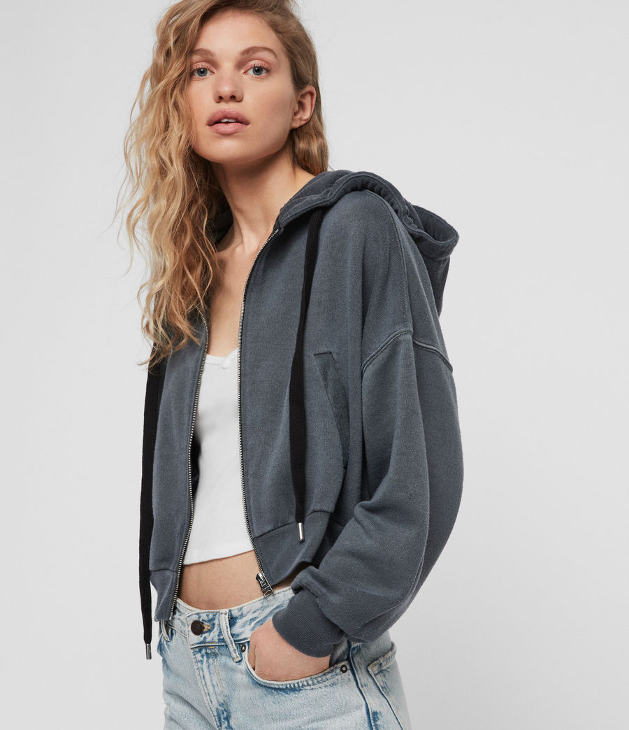 Womens Quince Hoodie (washed_black) - Image 1