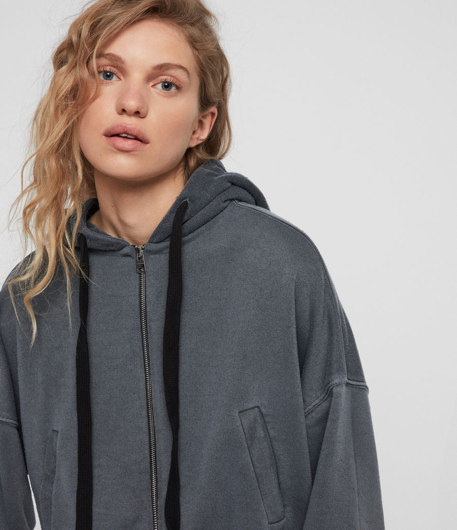 Womens Quince Hoodie (washed_black) - Image 3