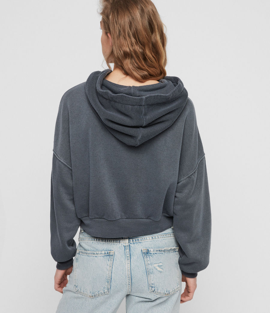 Womens Quince Hoodie (washed_black) - Image 4