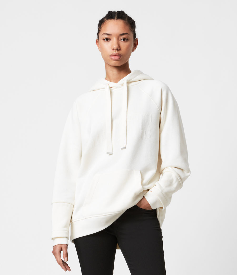 Womens AllSaints Lucia Hoodie (warm_white) - Image 1