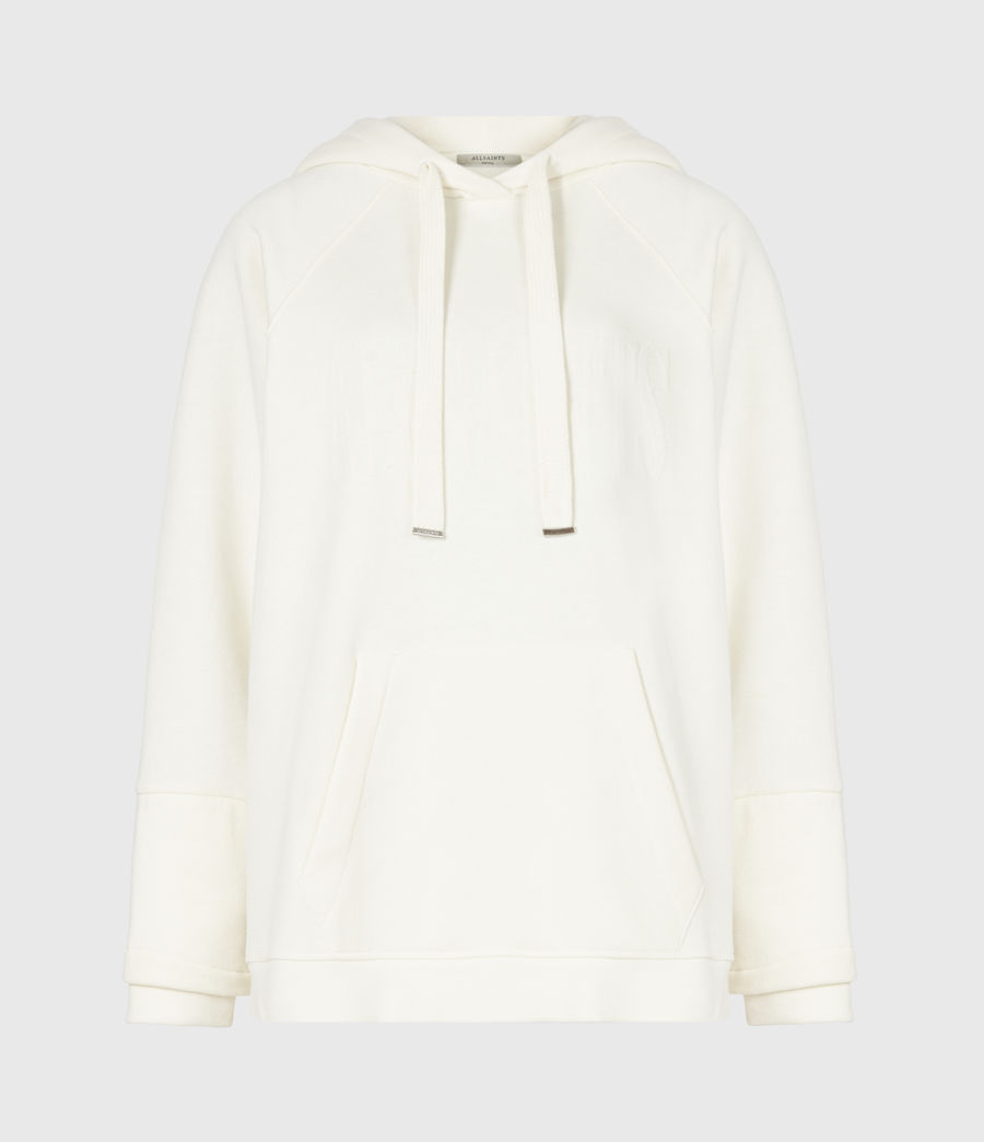 Womens AllSaints Lucia Hoodie (warm_white) - Image 2