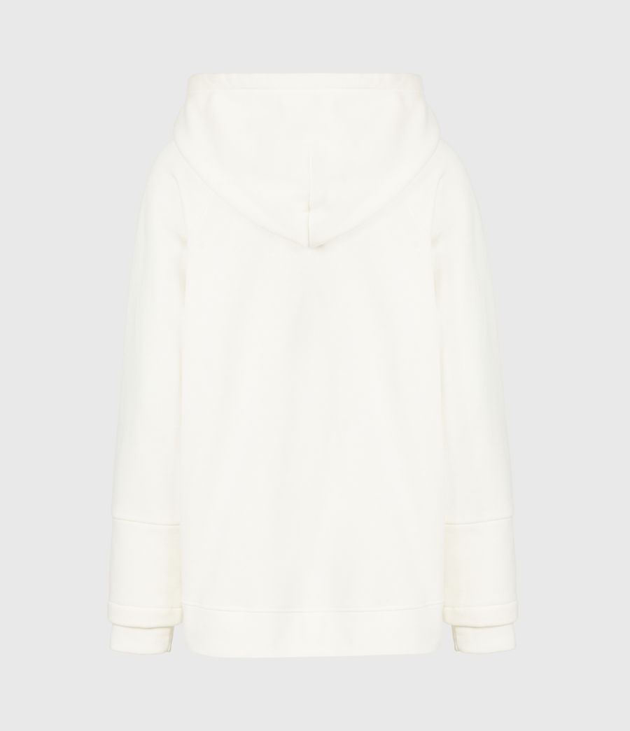 Womens AllSaints Lucia Hoodie (warm_white) - Image 3