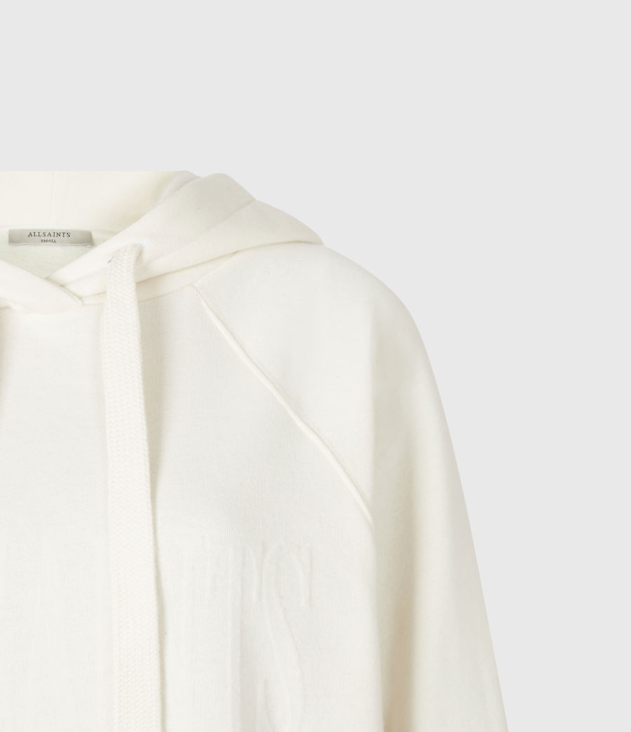 Womens AllSaints Lucia Hoodie (warm_white) - Image 5