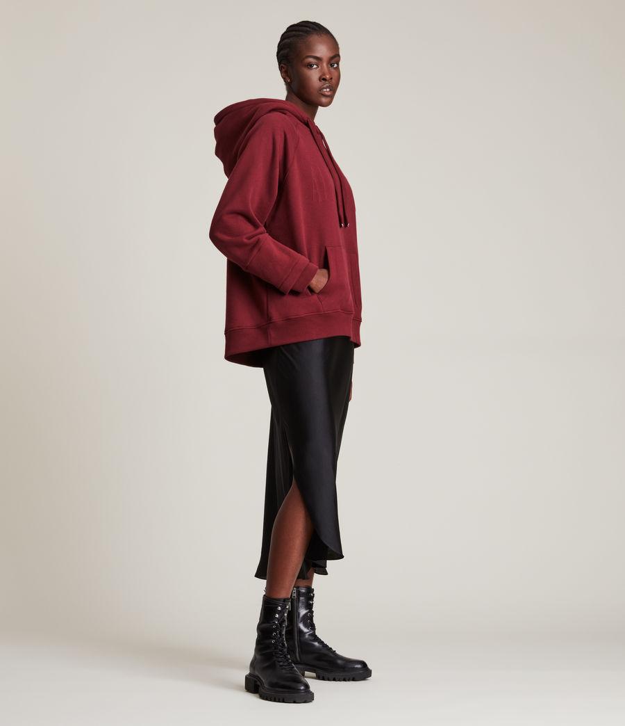 Women's AllSaints Lucia Hoodie (cherry_oak_red) - Image 1