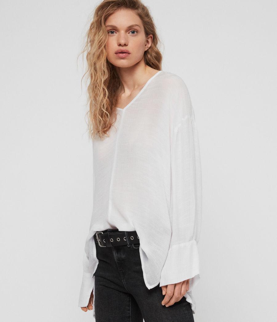 Women's Hani Top (chalk_white) - Image 2