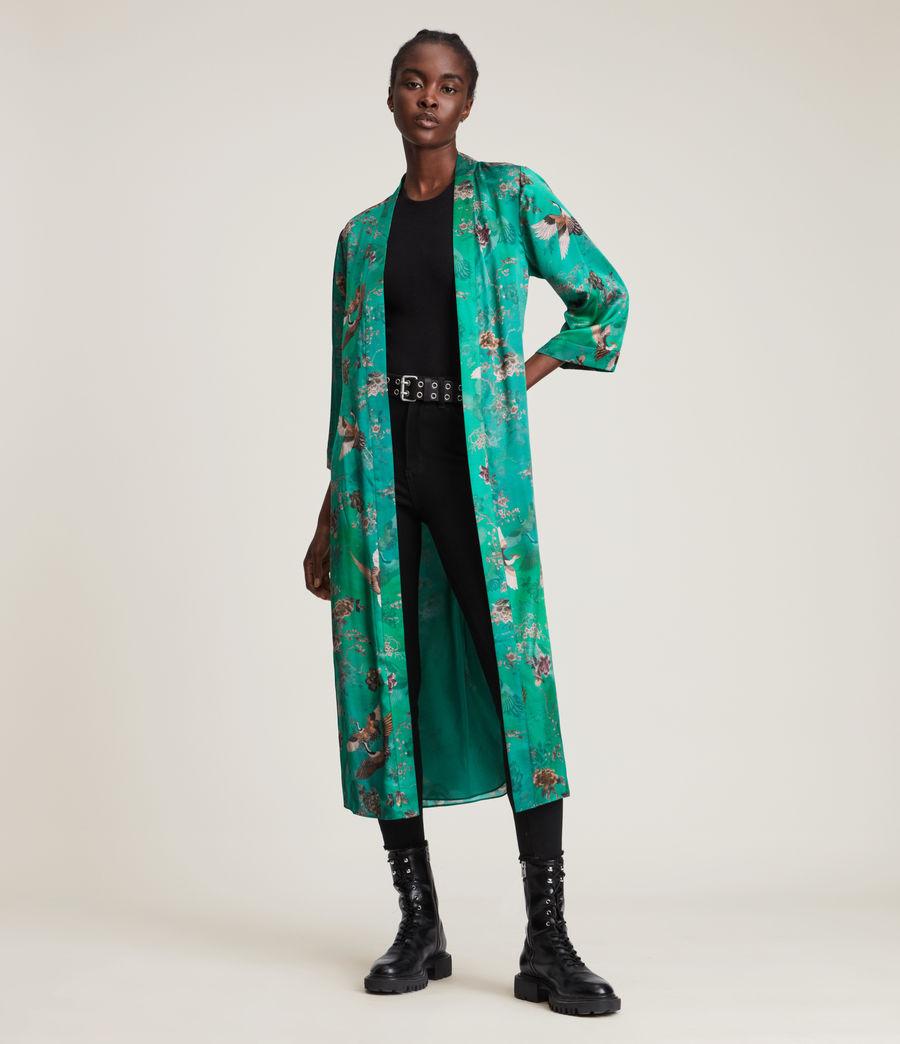 Damen Carine Amare Silk Blend Kimono (velvet_green) - Image 1