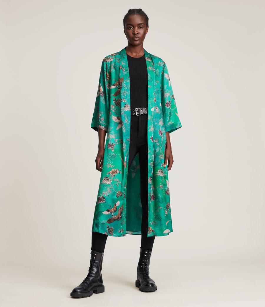 Damen Carine Amare Silk Blend Kimono (velvet_green) - Image 3