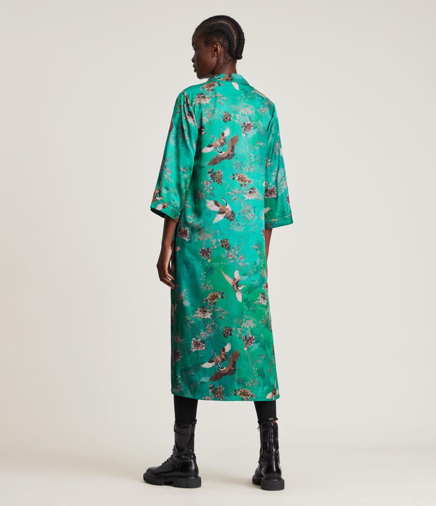 Damen Carine Amare Silk Blend Kimono (velvet_green) - Image 4