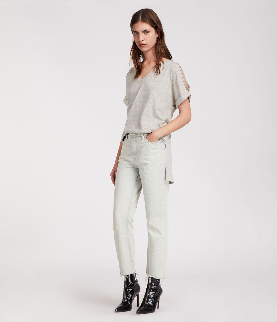 Womens Cora V T-Shirt (grey_marl) - Image 1