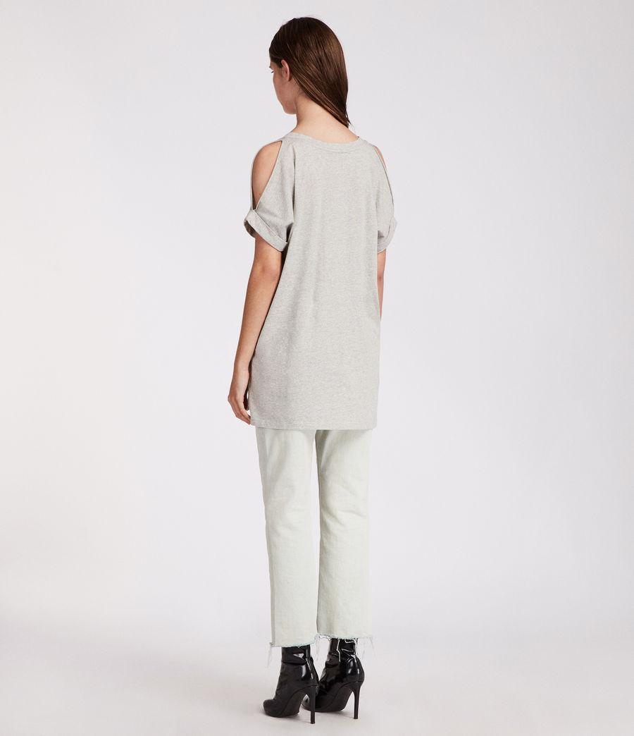 Womens Cora V T-Shirt (grey_marl) - Image 2