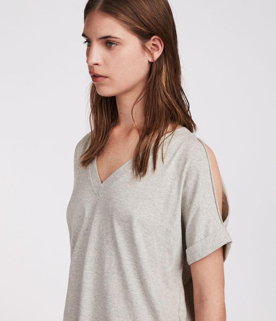 Womens Cora V T-Shirt (grey_marl) - Image 3