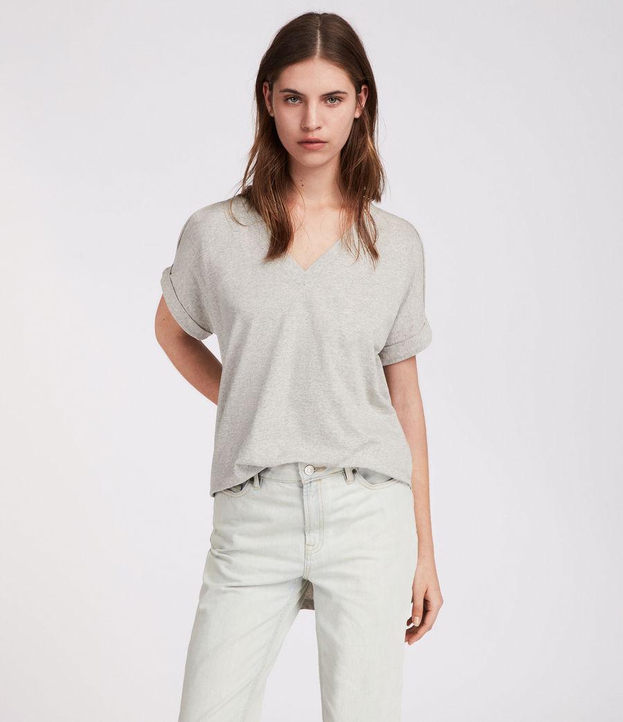 Womens Cora V T-Shirt (grey_marl) - Image 4