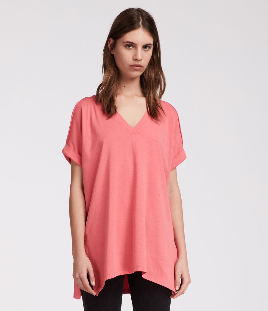 Damen Cora V-Ausschnitt T-Shirt (coral_pink) - Image 3