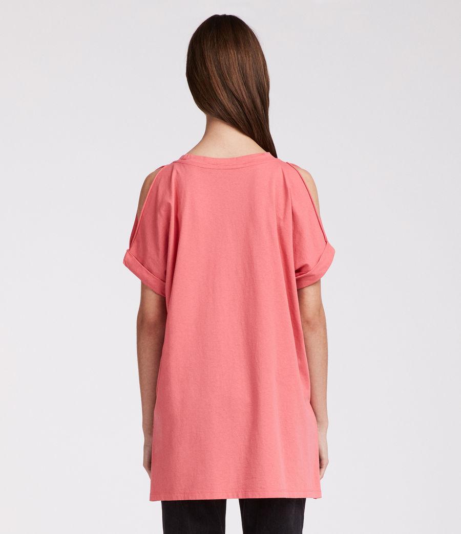Damen Cora V-Ausschnitt T-Shirt (coral_pink) - Image 4